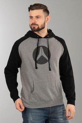 Alias Circled Gunmetal Hearther Hoodie Black