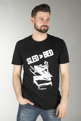 Koszulka Sledstore Sled Bed Czarna