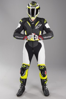 Alpinestars Atem V3 Leather Suit Black-White-Fluo Yellow
