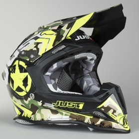 Kask cross Just1 J12 Kombat Żółty