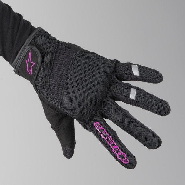 Alpinestars Asama Air Gloves Black-Rose Violet