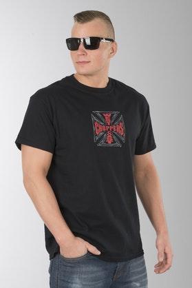 T-Shirt West Coast Choppers Web Cross Czarny