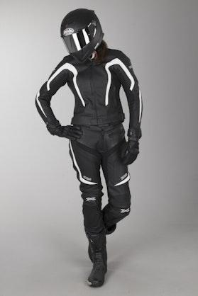 IXS Kelly Nelly Ladies' Motorcycle Apparel Black-White