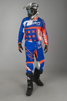 JT Racing Flex MX Clothing Kit Exbox Blue-Fluorescent Orange