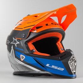 Kask Cross LS2 MX437 Fast Core Czarno-Pomarańczowy