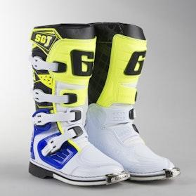 Crossstøvler Gearne SG-J Junior, Hvid/Blå/Neongul