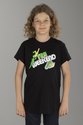 Acerbis Youth Yes Weekend T-Shirt Black