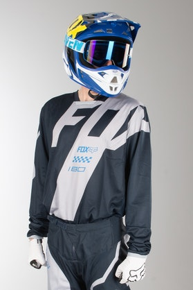 Fox 180 Mastar MX Jersey Navy Blue MX 18