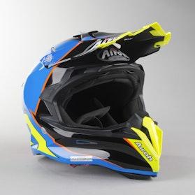 Airoh Terminator Open Vision Slider Azure MX Helmet Blue Gloss