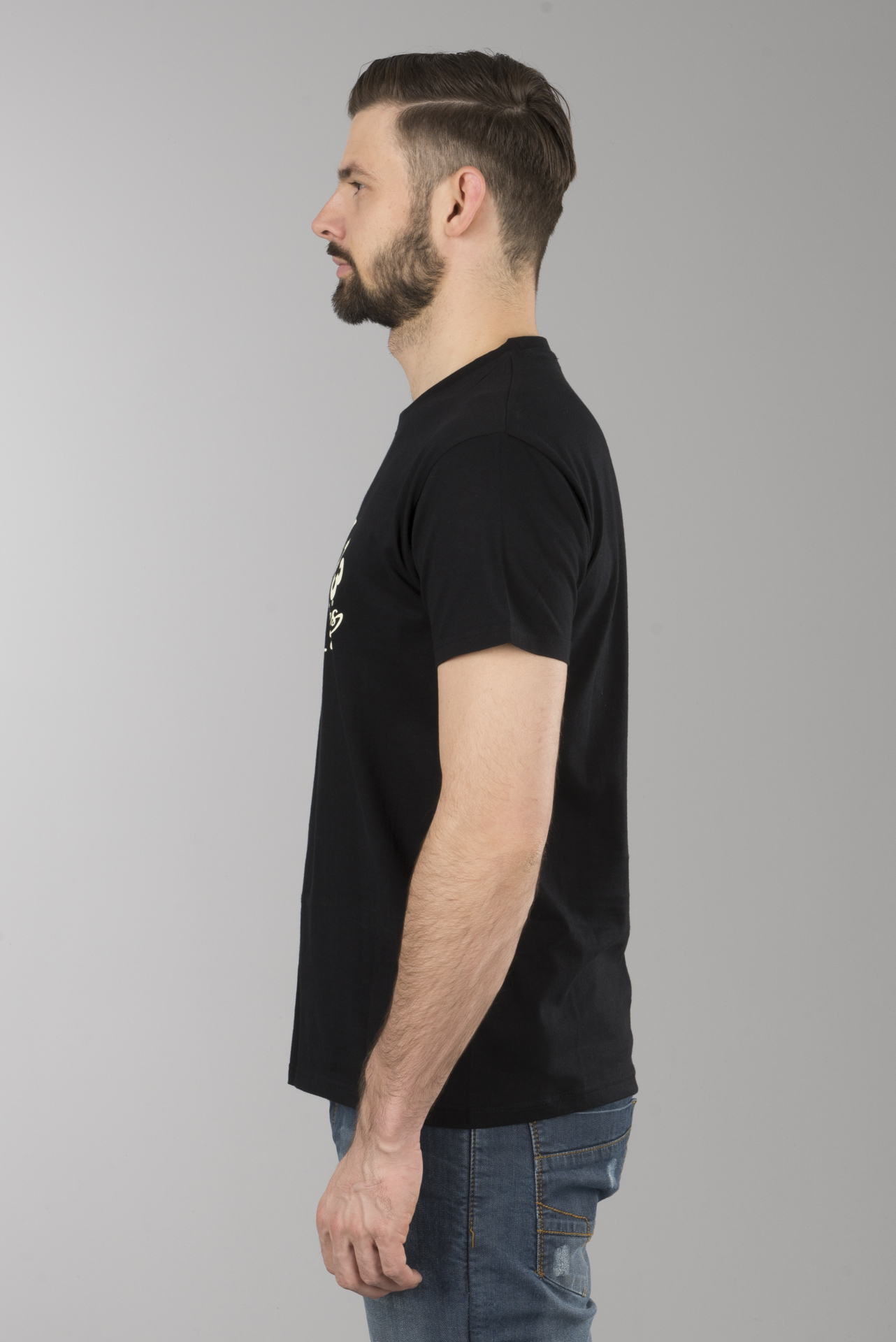 Lucky 13 T-shirt Mr wolf black