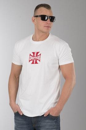 T-Shirt West Coast Choppers OG Cross Biało-Czerwony