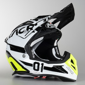 Airoh Aviator 2.2 RACR Cross Helmet Black-White Gloss