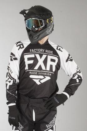 Bluza Cross FXR Clutch Retro Czarno-Biała