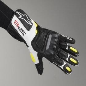 Rękawice motocyklowe Alpinestars SP-8 V2 Czarno-Biało-Żółte