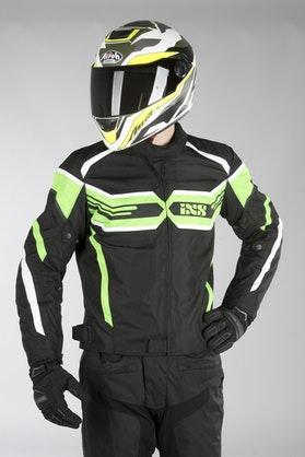 IXS Sport RS-400-ST Jacket Black-Green-White