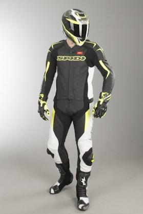 Kombinezon Skórzany Spidi Supersport Touring Czarno-Fluorescencyjny Żółty