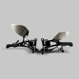 Zestaw Dźwigni i Podnóżków do Odwrócenia Zmiany Biegów Valter Moto Typ 2.5 Czarny