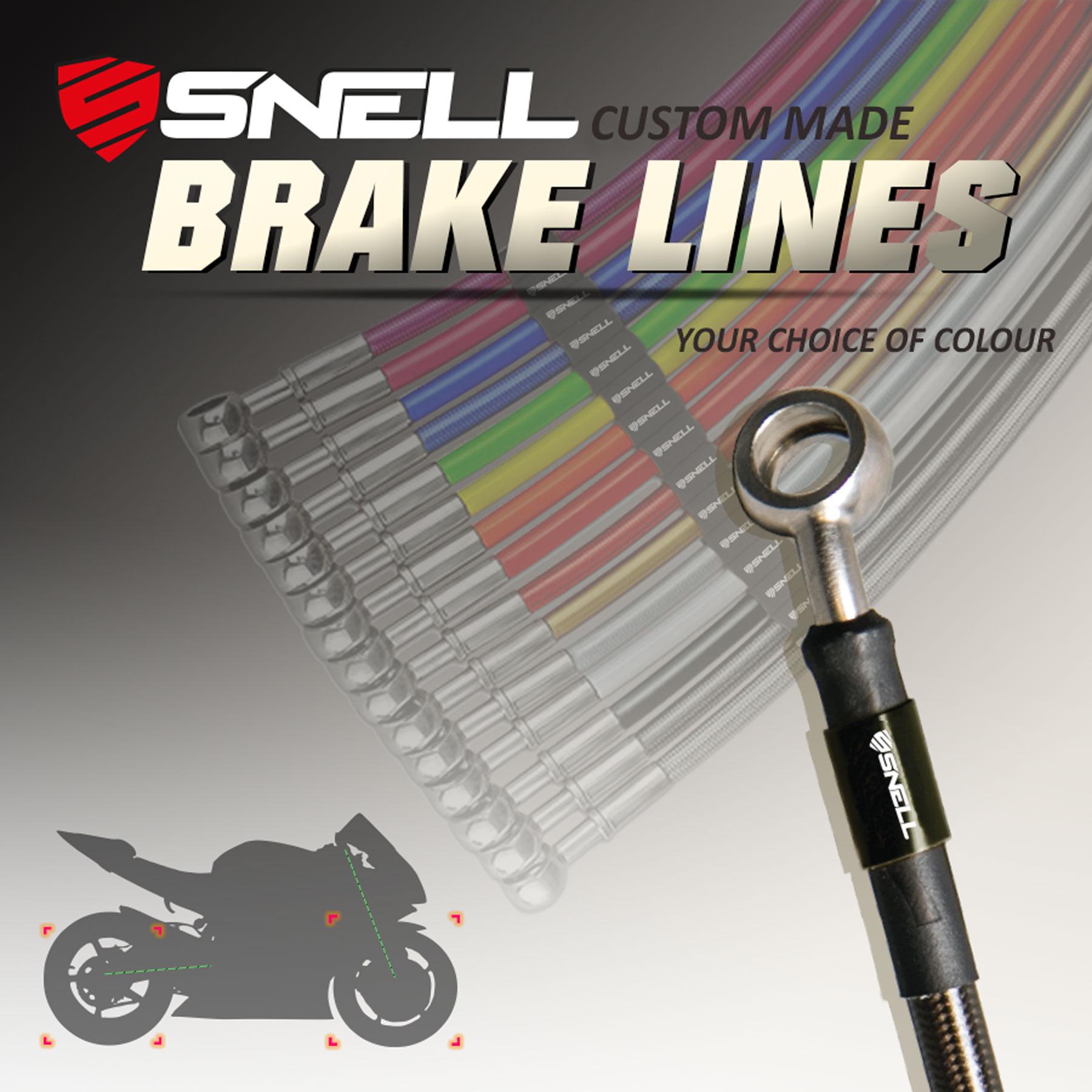 Customizable Snell Stainless Steel Braided Brake Line Set
