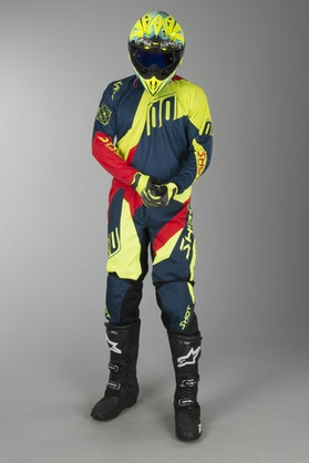 Shot Devo Alert MX-Clothing Kit Blue-Red-Neon Yellow