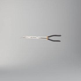 Szczypce półokrągłe odgięte o 45° długie z podwójnym przegubem Beta Tools