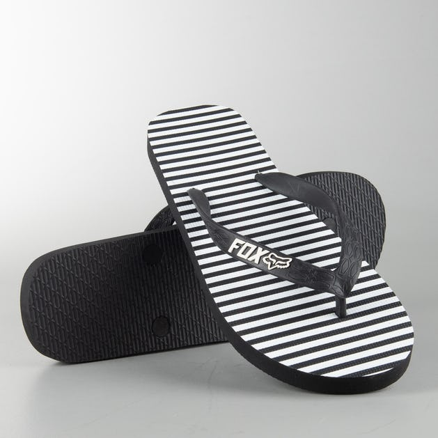 Fox Jail Break Flip Flops Black-White Womens