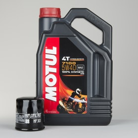 Motul 7100 5W40 Oil 4T Fully synthetic 4L + Oil Filters