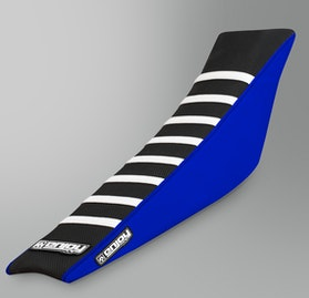 Enjoy Ribbed Seat Cover Blue-Black-White
