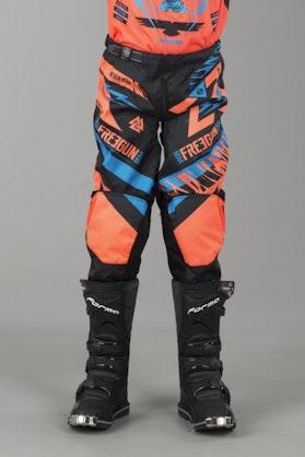 Freegun Trooper Youth MX Trouser Cyan & Orange
