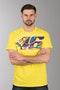 T-Shirt VR46 Helmet Żółty