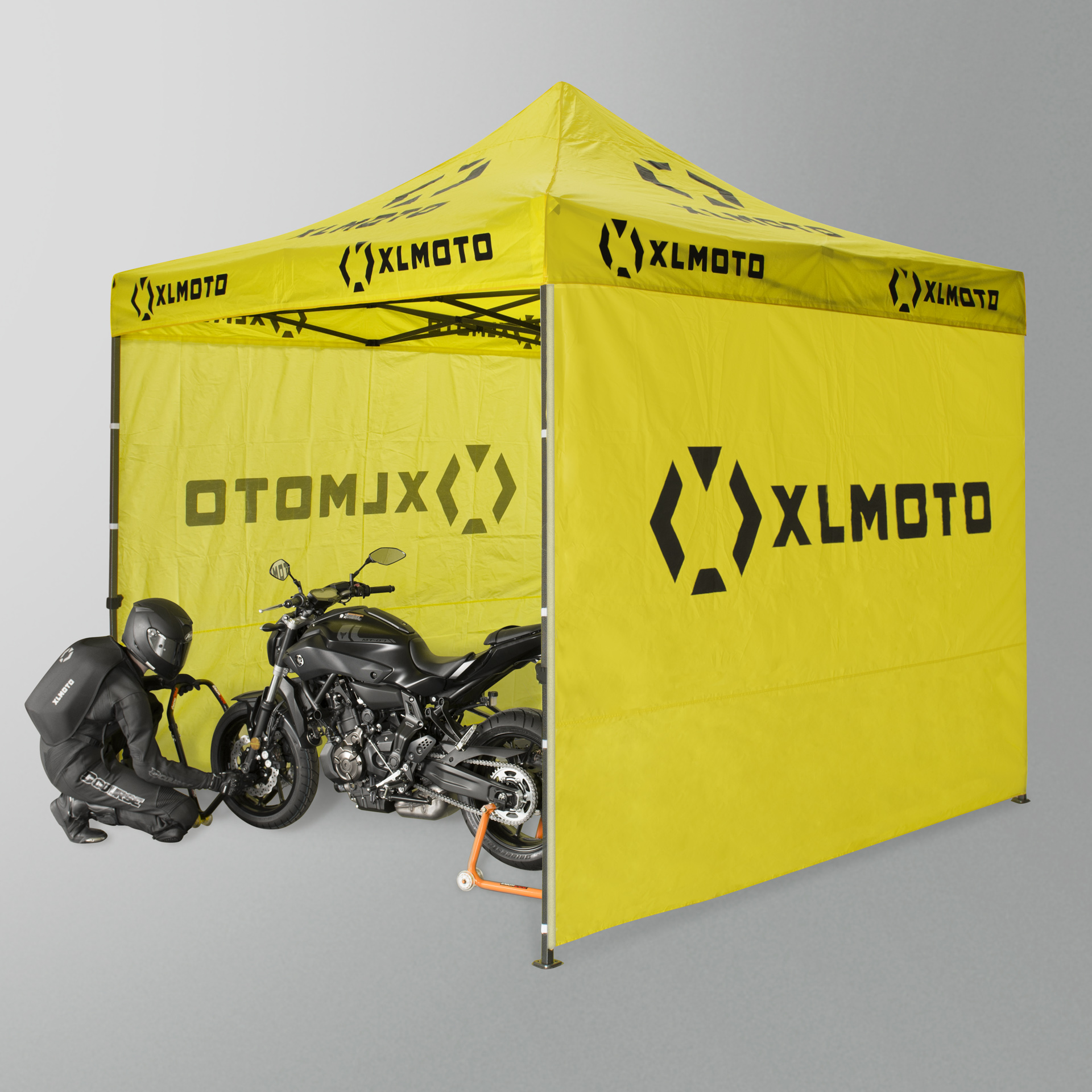 XLmoto Easy Up Race Tent 3x3m With Walls Yellow