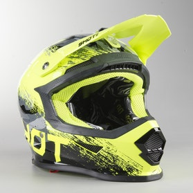 Shot MX Helmet Grey-Neon-Yellow