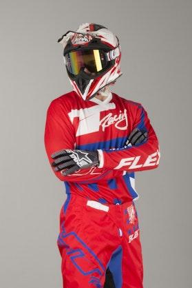 Bluza Cross JT Racing Flex Exbox Czerwono-Niebiesko-Biała