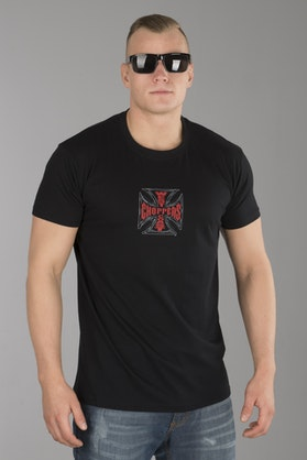 T-Shirt West Coast Choppers Cross Solid Czarny