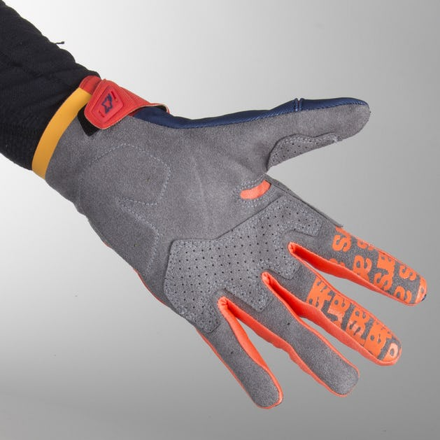 Alpinestars Techstar MX Gloves Blue-Red-Orange