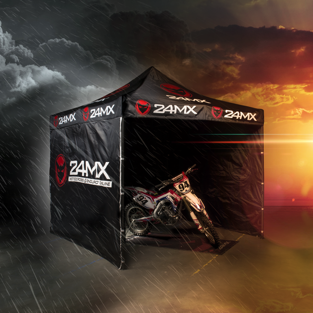 24MX Race Easy-Up Race Tent 3x3m With Walls