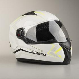 Acerbis Full-Face FS-807 Helmet White-Yellow