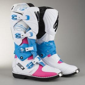 Dámské Crossové Boty Sidi X-3 Lei Růžová-Bílá-Světle Modrá