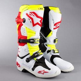 Boty Alpinestars Tech 10 Červeno-Bílo-Neonové