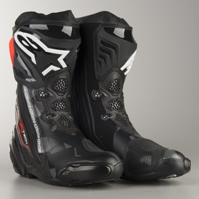 Alpinestars Supertech R MC-Boots - Black-Grey-Flourescent Red