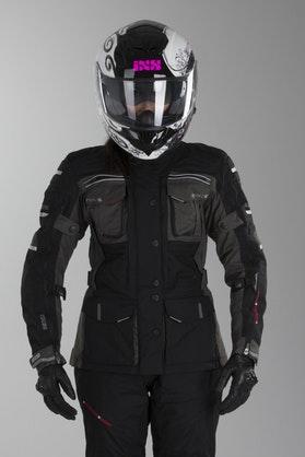 IXS Montevideo 2 Ladies' Jacket Black-Gray