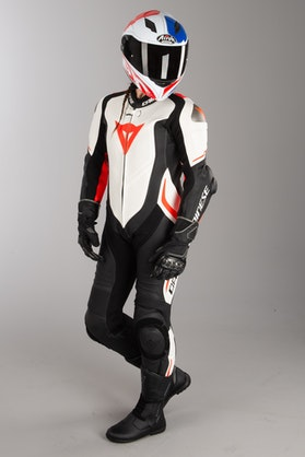 Dainese Laguna Seca 4 Perf. Women's Leathers Black-White-Red