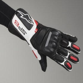 Alpinestars SP-8 V2 Motorcycle Gloves Black-White-Red