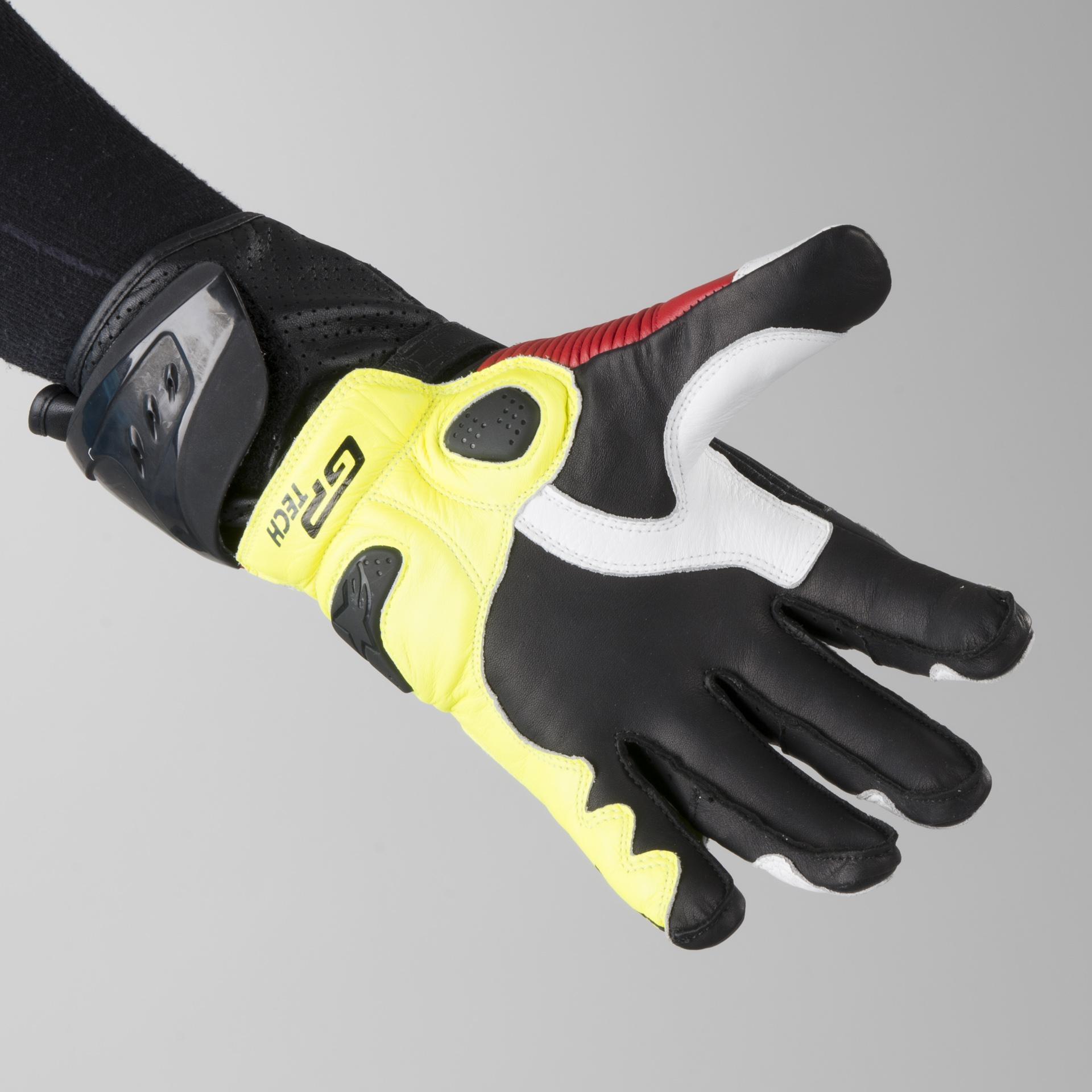Alpinestars GP Tech Gloves Black Red Fluorescent Buy now