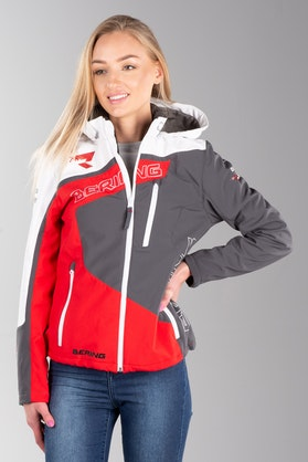 Bering Softshell Women's Racing Jacket White-Red-Black