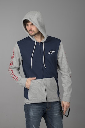 Bluza z Kapturem Alpinestars Machine Fleece Granatowo-Szara