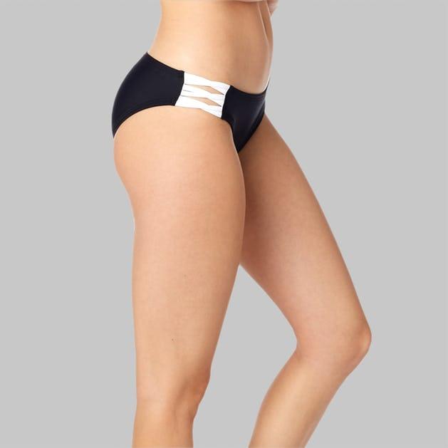 Bikinitrusser Fox Bolt Lace Up, Sort