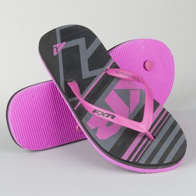 FXR Ladies Infinite Flip Flops Black-Hot Pink