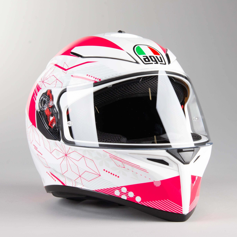 AGV K3 SV Izumi Bianca Rosa Motociclo Casco