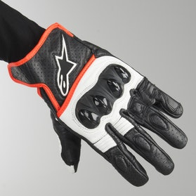 Rękawice Alpinestars Celler V2 Czarno-Biało-Neonowo-Czerwone