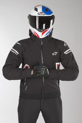 Bluza Motocyklowa z Kapturem Alpinestars Sektor Tech Czarno-Biało-Czerwona